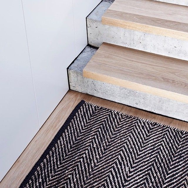 concrete + timber stair