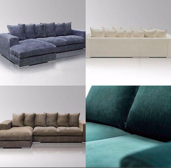New Collection Samt In Edlem Grun Samtsofa Wohnen Sofa