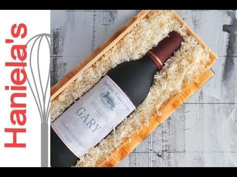 Wine Bottle in a Wood Crate Cake Tutorial, How To Make Gumpaste Wine Bottle