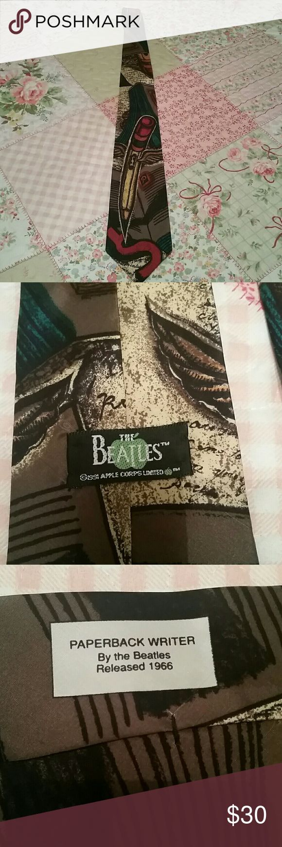 Men's Tie Rare Paperback Writer tie. From the Beatles collection. Very hard to find! Accessories Ties