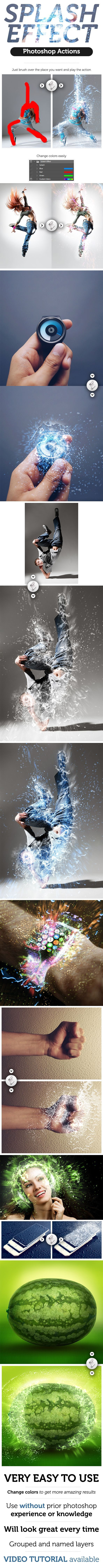 Splash Effect Photoshop Action