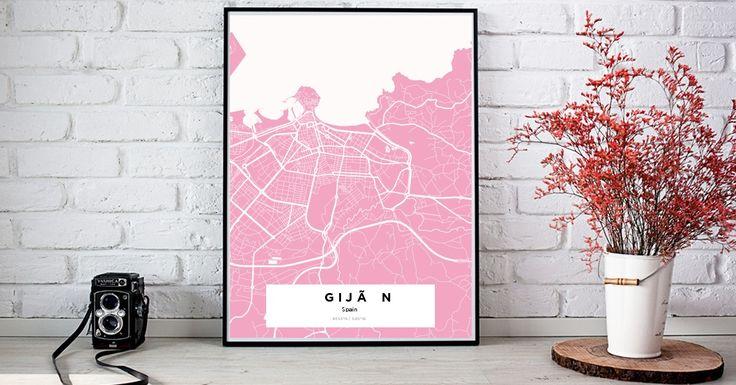 Gijón | Custom Map Maker – Make Your Own Map Poster Online - YourOwnMaps