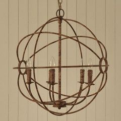 Globe Chandelier Rustic - Cowshed Interiors