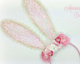 Bunny Ears Headband  Easter Bunny Headband  by PinkToastBoutique