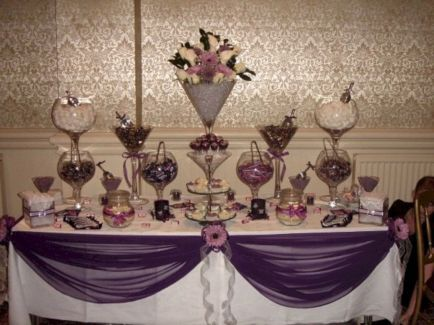 Purple Wedding Candy Buffet Table 2