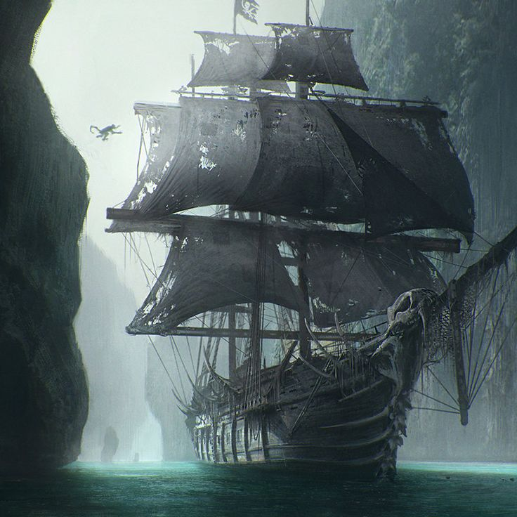 Monkey Pirate Ship concept art for Ojo