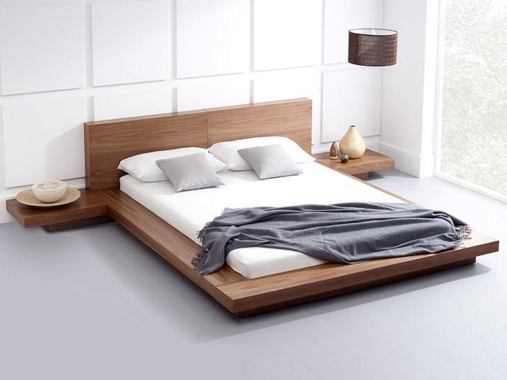 Platform Bed Bed Frame Walnut Bed Modern Bed Danish Modern