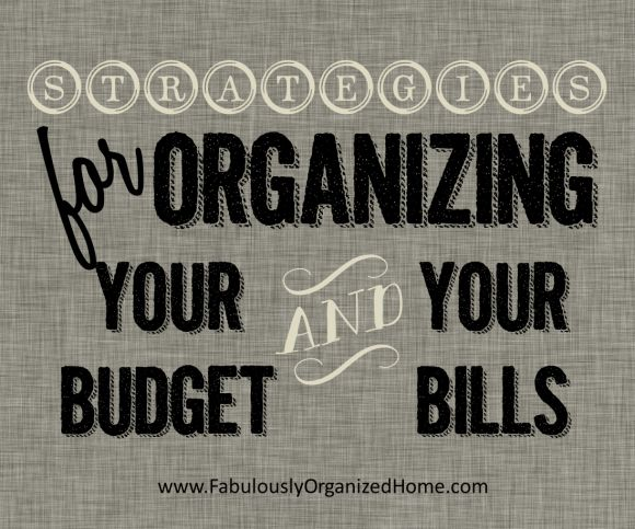 Finance + Bill Organization | FabulouslyOrganizedHome.com