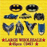 Wholesale lager Batman designs PVC Shoe Charms Fit Jibbitz pvc Shoe Accessories
