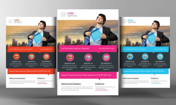 Marketing Flyer Template by Business Templates on @creativemarket