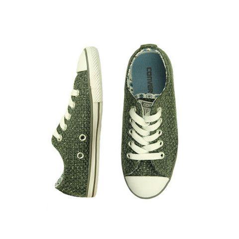 Converse Grey Sparkle Low Tops