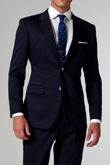 Indochino Navy Cotton Suit