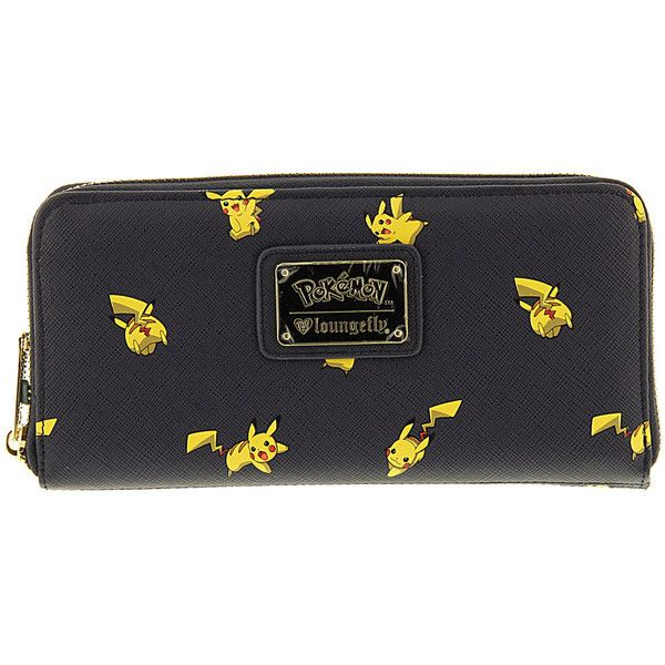 Loungefly Pokemon Pikachu Wallet Navy Misc Accessories No Size ($42) ❤ liked on Polyvore featuring bags, wallets, navy, navy blue wallet, loungefly wallet, loungefly bags, loungefly and card slot wallet
