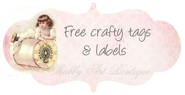 Free shabby chic tags for you to download - Shabby Art Boutique