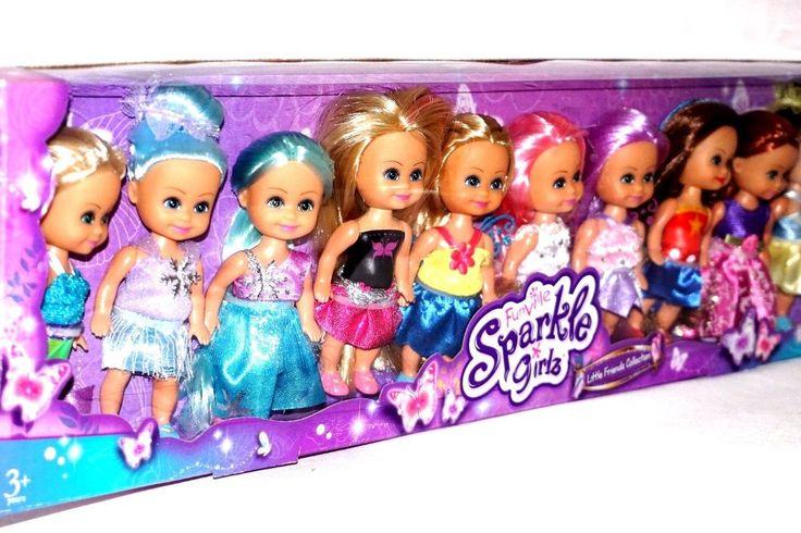 funvile sparkle girlz dressed 4 1/2 inch doll  job lot bundle  10 dolls bnid