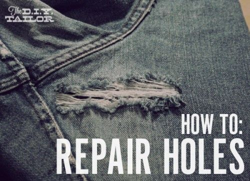 Fix it! How to Repair a Hole in a Pair of  Blue Jeans