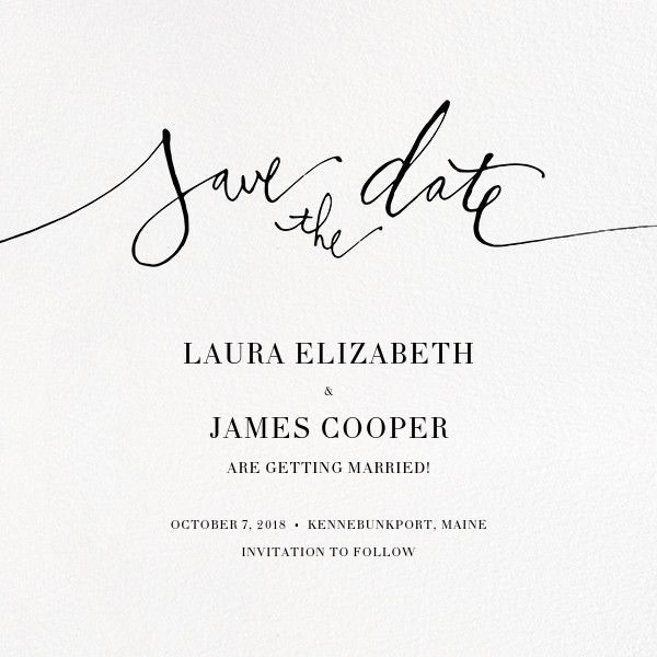 7 best L \ J save the dates images on Pinterest Dates, Dating and - best of birthday invitation card online maker