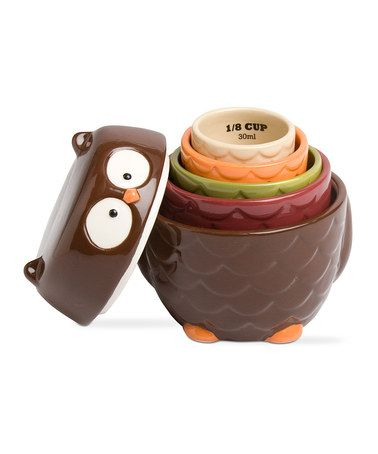 Look what I found on #zulily! Owl Measuring Cup Set #zulilyfinds