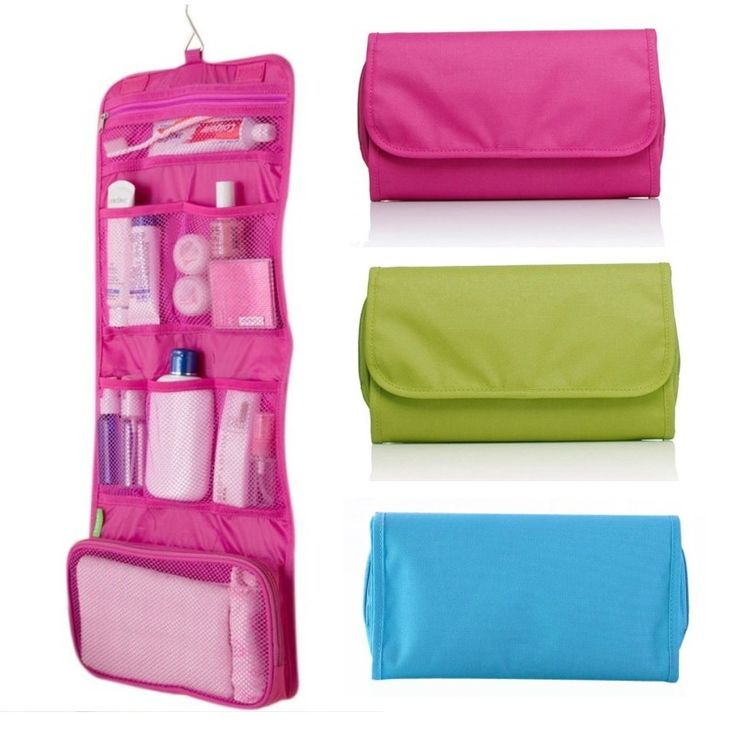 Womens Ladies Travel Toiletry Folding Hanging Wash Cosmetic Makeup Storage Bag Portable Organizer For Outdoor Camping | #TravelGroomingKit