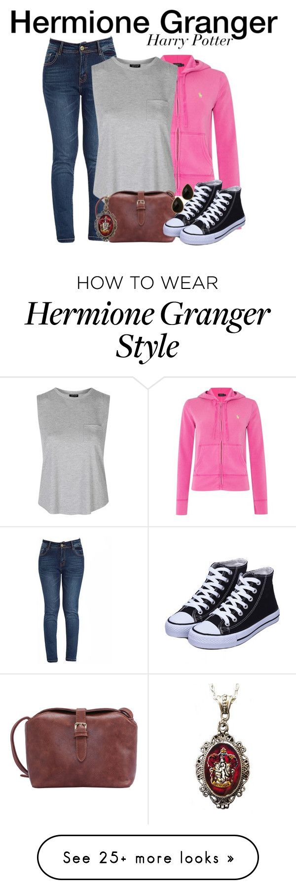 """Hermione Granger - Harry Potter"" by nerd-ville on Polyvore featuring Polo Ralph Lauren, Topshop, Alkemie, Natasha Accessories, women's clothing, women, female, woman, misses and juniors"