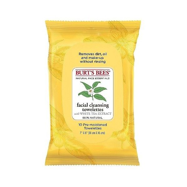 Burt's Bees  ct Wipe Exfoliating Facial Cleansing Wipes (£4.11) ❤ liked on Polyvore featuring beauty products, skincare, face care, face cleansers, exfoliating face wash, burts bees face wash, burts bees facial cleanser, exfoliating facial cleanser and burt's bees
