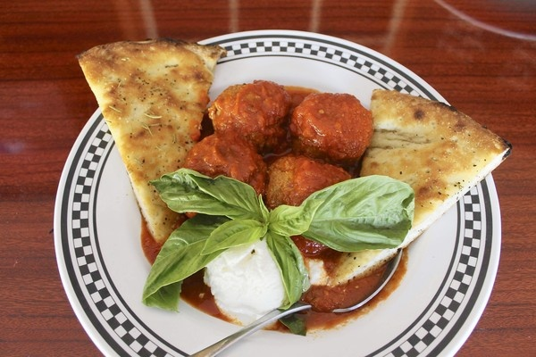 Anthony's Coal Fired Pizza's Meatballs and sauce  - I've not had these but know some folks who love 'em . Photo links to meatball recipe. Sauce recipe link is: http://www.sun-sentinel.com/features/food/fl-food-yafi-r2-20121004,0,1660218.story