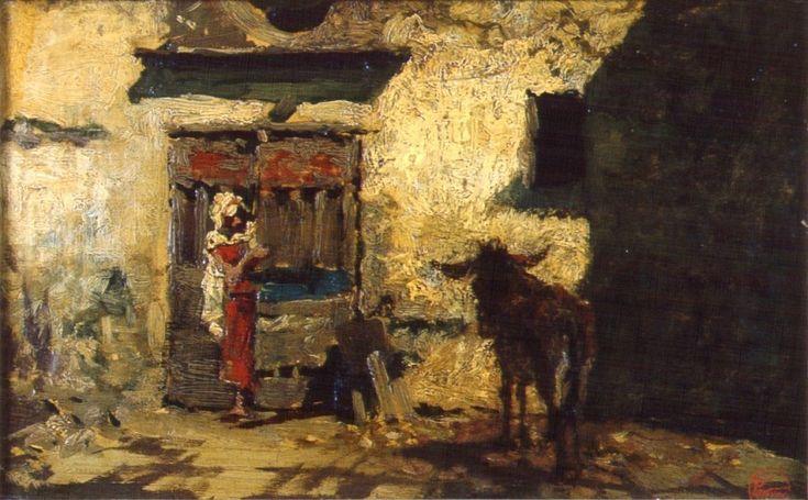 Patio árabe, 1865. Óleo sobre lienzo, 19.5 × 31 cm. Museo Fortuny.