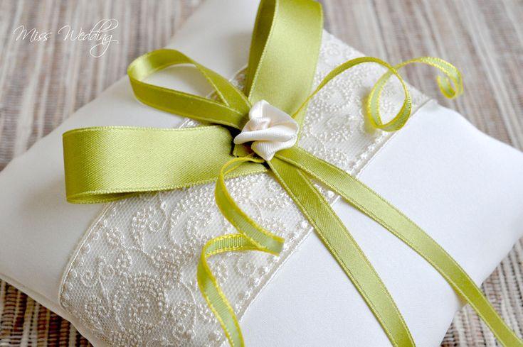 Rinkissen creme grün von Miss Wedding auf DaWanda.com