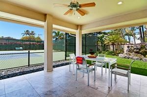 TENNIS COURT built for TENNIS PROFESSIONAL incl lights, ball equipment & newer 2008 custom residence w/lush tropical landscaping waterfall & spa. Open kitchen/family area, marble & wood floors & workout gym. Directly across from beach/ocean access. ITALIAN FURNISHINGS INCLUDED IN SALE. Ready to move in! (4th bedroom currently being used as a gym; room for a closet