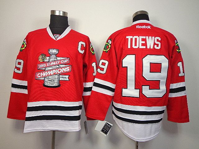419a7c4cf ... 19 NHL chicago blackhawks toews red(new 2013 Stanley cup champions) - NHL  Jerseys Jonathan ...