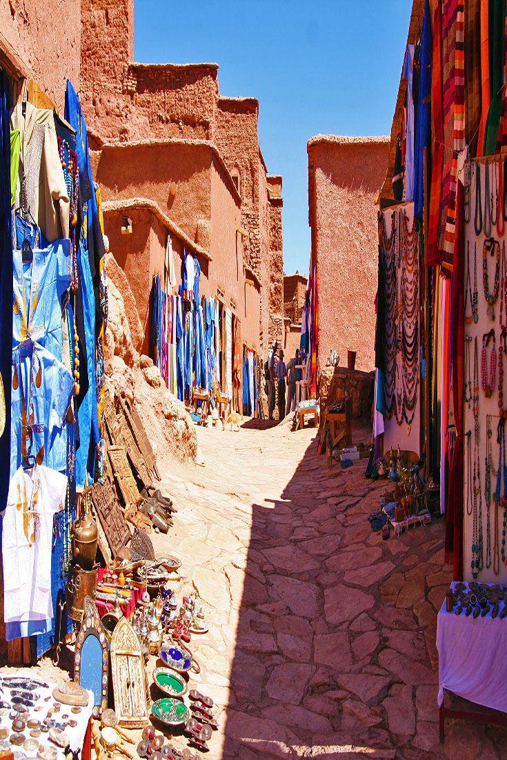 Aït Benhaddou, a village in Morocco. It was a former caravan route between the Sahara and Marrakech.