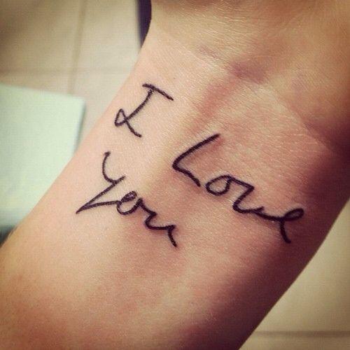 Tattoo Quotes Handwritten: 25+ Gorgeous Handwriting Tattoos Ideas On Pinterest
