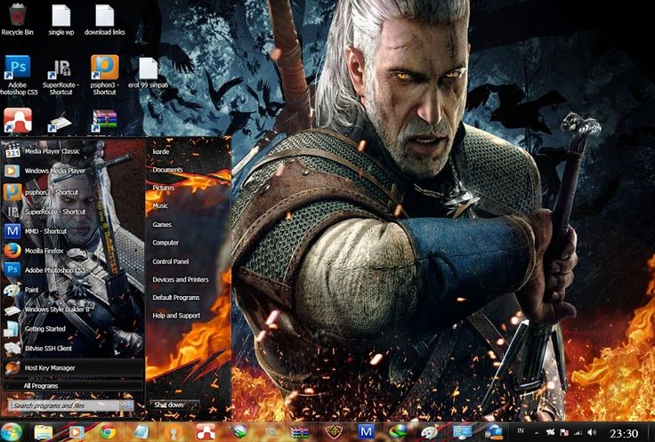 Windows theme Free Download themes windows // Tema // 7 // seven// The Witcher // The Witcher//skin//The Witcher // Theme // win