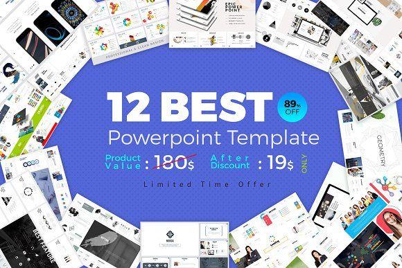 Best 12 PowerPoint Template Bundle by ZAAS on @creativemarket