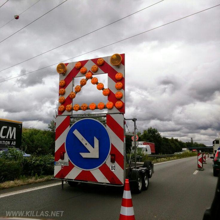 #Stau #A1 #Autobahn #BAB #Münsterland #Baustelle #Verkehrsschild