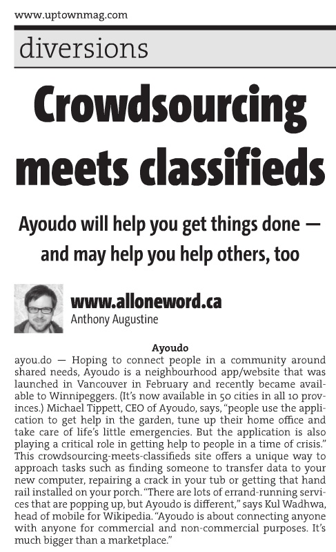 Ayoudo featured in Uptown Mag