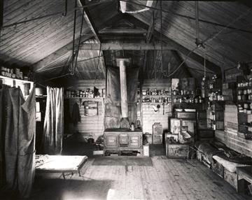 Interior Shackleton hut Cape Royds Ross Island Antarctica