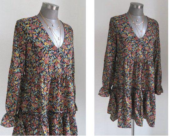 Dein Marktplatz Um Handgemachtes Zu Kaufen Und Verkaufen Long Sleeve Dress Boho Fashion Dresses With Sleeves