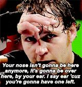 YAY DEAN IS THREATENING SETH ROLLINS... SUPER HAPPY FUN TIME WITH DEAN AMBROSE... KING OF THE MIC<3<3<3<3<3<3<3<3