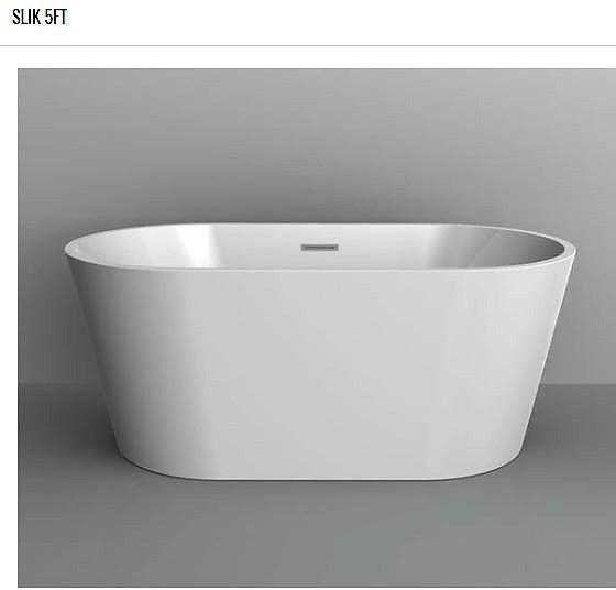 Acrylic one-piece freestanding bathtub from SLIK (5ft)