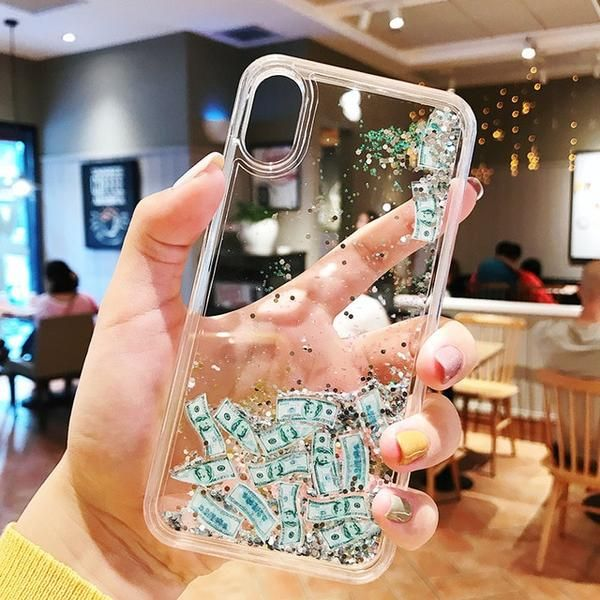 Money – Dynamic Liquid #Glitter Phone Case For iPhone 7 7Plus 8 8Plus 6 6s 6Plus X XS Max XR