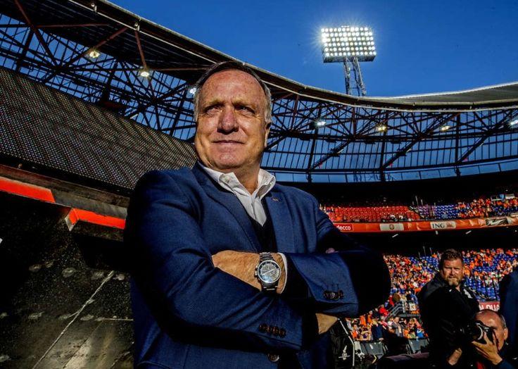 Bondscoach Dick Advocaat in het Feyenoord stadion tijdens Nederland - Luxemburg. 2017-06-09