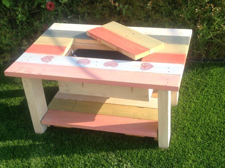 M s de 1000 ideas sobre mesas hechas con palets en - Cosas hechas de palets ...