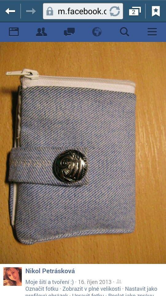DIY Denim peněženka