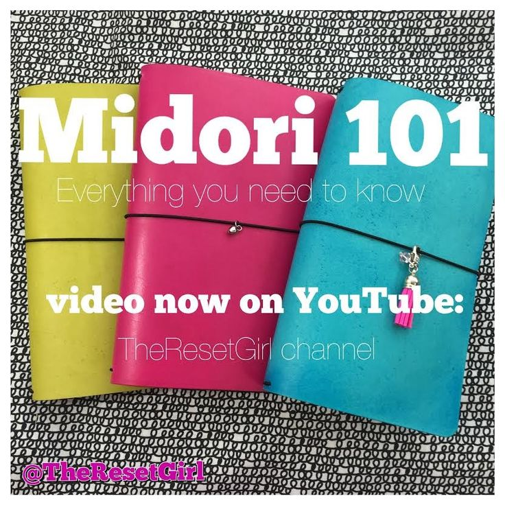 Midori 101:The Ultimate How-to for the Midori Traveler's Notebook feat. ...The Reset Girl does a fabulous job @ explaining - how/where/etc - great video!!