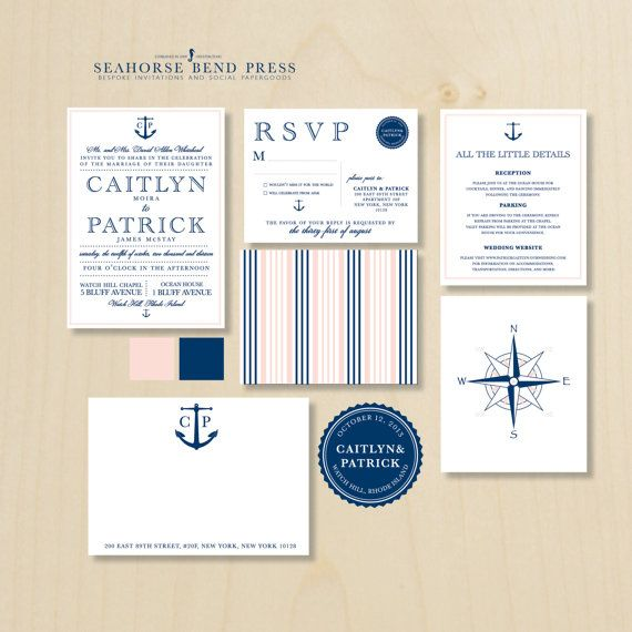 Our gorgeous custom nautical invitations!  New England Coastal Wedding Invitation by seahorsebendpress, $6.00