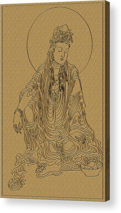 27 best mandala images on pinterest mandalas buddha and buddhism the guanyin bodhisattva 4 acrylic print by lanjee chee fandeluxe Images