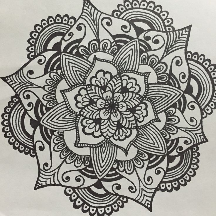 Mandala flower.