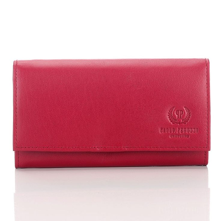 Czerwony portfel damski Paolo Peruzzi #PaoloPeruzzi, SuperGalanteria.pl http://supergalanteria.pl/ona-produkty-dla-kobiet/portfele-damskie/duzy-czerwony-portfel-damski-paolo-peruzzi-rosso-381-pp-red