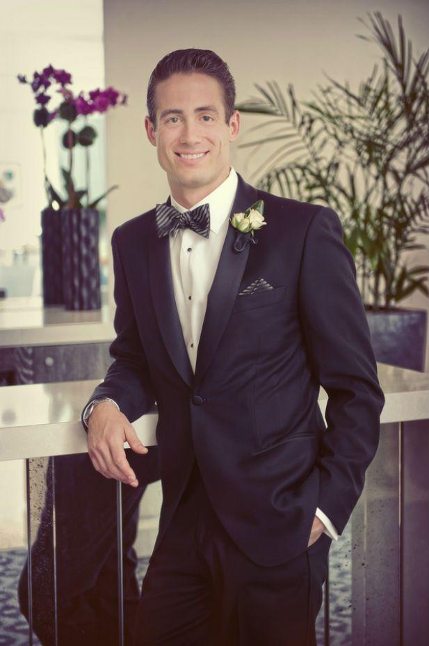 Luxury groom attire: classic black tuxedo | Jeff Kolodny Photography